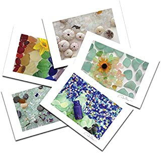 Sea Glass Postcard Prints. 10 Pack, 4x6, 2 of Each. Best Quality Gifts, Birthday Cards, Thank You Notes & Invitations. Unique Christmas and Valentine's Gifts for Women, Men and Kids of All Ages
