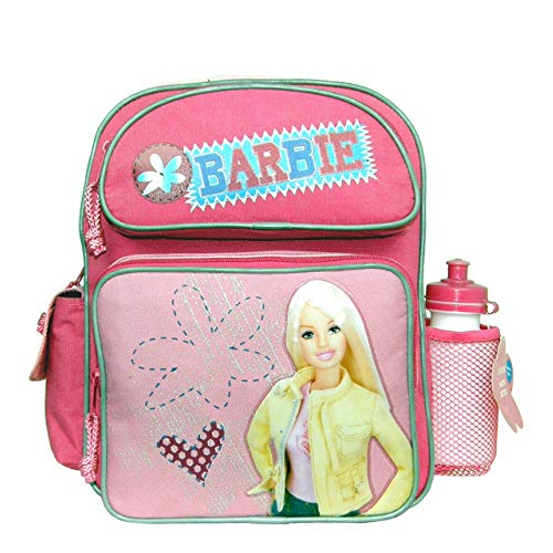Small Backpack–Barbie–W/Water Bottle–Pink Label New School bag 18456