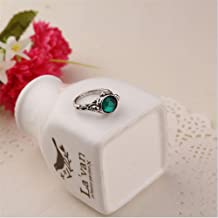 Ravewan Shop Pirates of The Caribbean Ring Captain Jack Sparrow Death Finches Skull - Trendy (10)