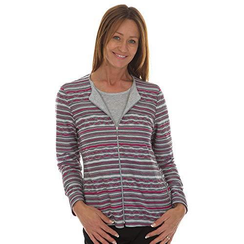 Rabe Damen Twin-Set mit Ringel-Jacke und Glitzer-Shirt