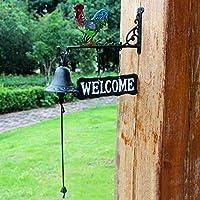 CKH ノルディックカントリーレトロ歓迎されている両面のリストにドアベルのウェルカム鋳鉄鍛造のドアベルハンドコックベル