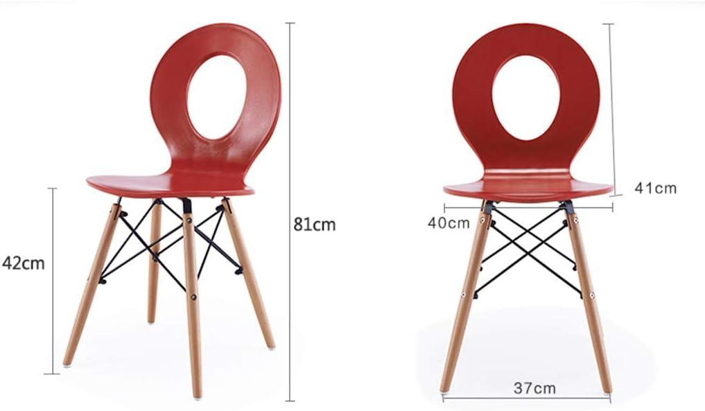 Chaise de Salle à Manger Chaise de loisirs simple conversation maison chaise mode moderne chaise en plastique café bar chaise (Color : White) Black