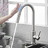 Pull Out Black Sensor Kitchen Faucets Stainless Steel Smart Induction Mixed Tap Touch Control Sink Tap Kitchen faucet