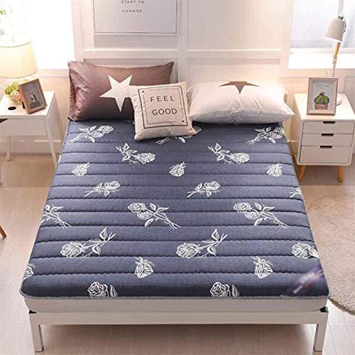 Engrosamiento de espuma plegable colchón tradicional japonés Mat futón portátil Estudiante piso dormitorio Protección Tatami transpirable antideslizante de alta elasticidad tamaños múltiples Disponibl