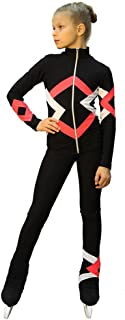 Figure Skating Outfit - Thermal - Bauer (Black, Coral and White)
