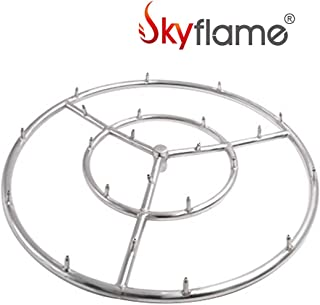 Skyflame 24-Inch Round Stainless Steel Fire Pit Jet Burner Ring, High Flame