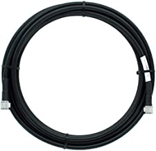 Bolton400 Cable - LMR400 Coaxial Cable 20ft - Heavy Duty Ultra Low Loss Coax Cable 50ohm - n Male to n Male - 20 Feet Black - for Home and Commercial Signal Booster Installations