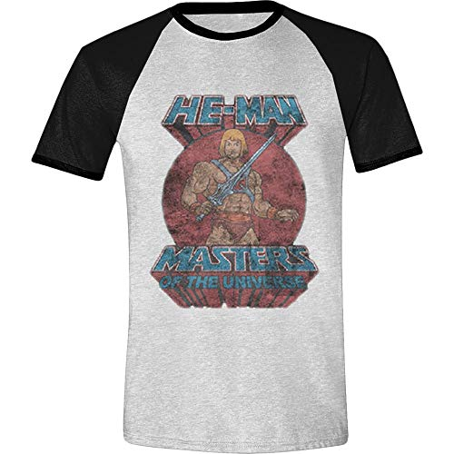 Masters of the Universe Herren T-Shirt He-Man Pose Baumwolle grau schwarz - L