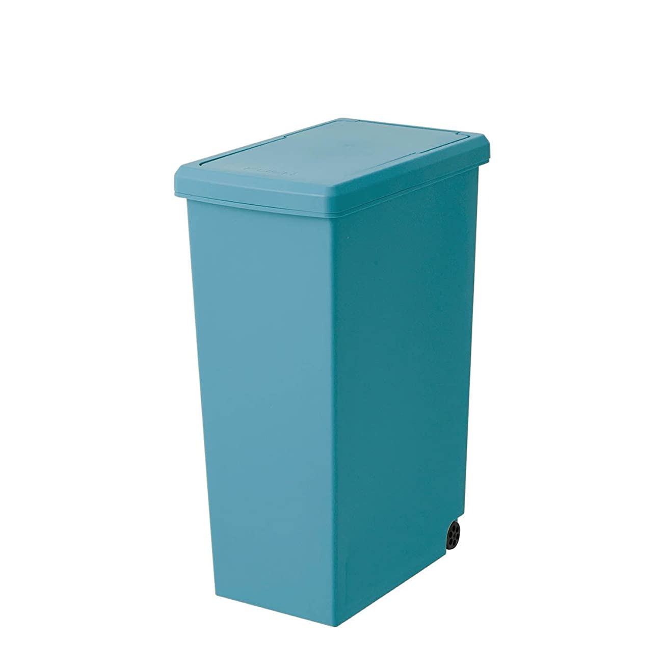 塊尊敬するそれぞれ[ベルメゾン] フタ付きゴミ箱 スリム スライドフタ 幅約24 奥行約37 約30L ブルー