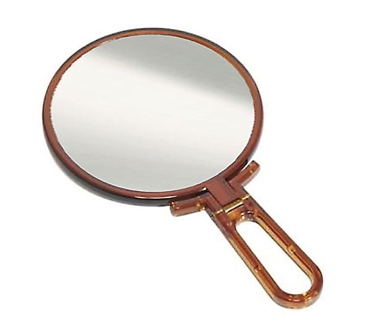 間接的アフリカ配置鏡 ハンドミラー 折立 No.455 べっ甲