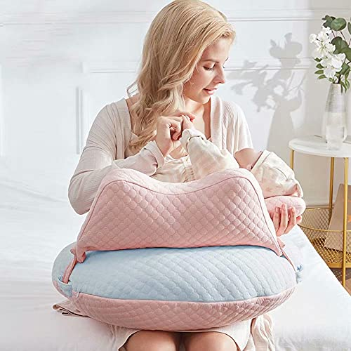 WYXunPlanet Breastfeeding Pillow for Babies,Nursing Pillows,Nursing Pillow Breastfeeding,Nursing Pillow, Baby Nursing Pillow and backrests,Can Change The Baby's Feeding Position(Blue)