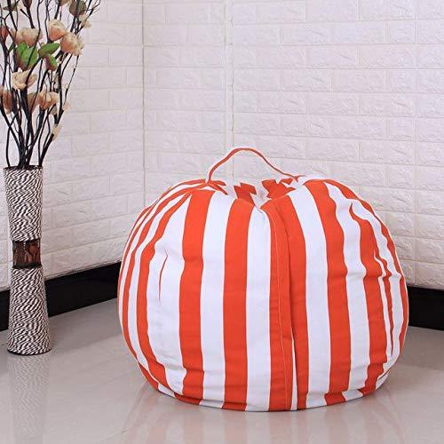 Youngshion Kinder Spielzeug Aufbewahrung Sulotion Sitzsack Canvas gefüllt Plüsch Tier Sack Organizer Stuhl für Quilt, Kleidung Decken, canvas, Striped Light Orange, 96,5 cm
