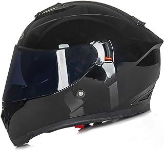 Child Full Face Motorcycle Helmet, Unisex Winter Warm Motocross Helmets with Double Visor for Motorbike Scooter Mountain B...