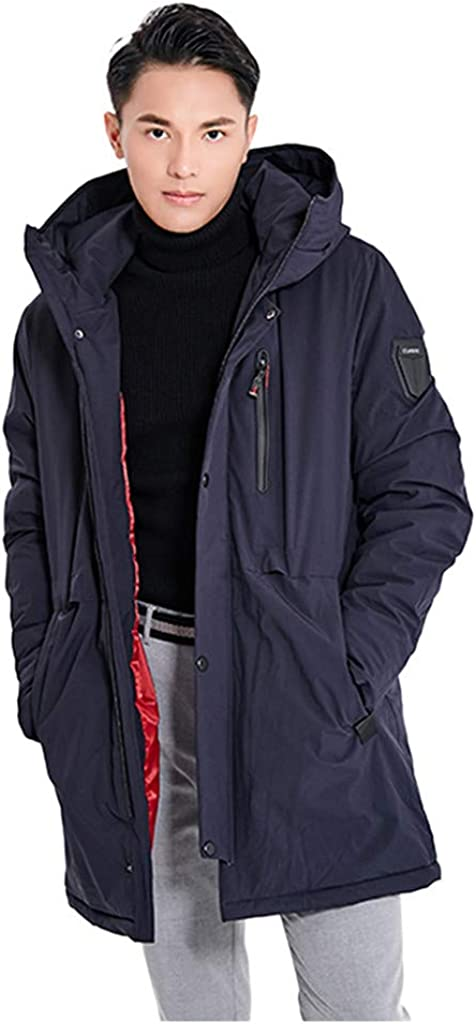 NotingBuss Heated Jacket for Men Winter Thickened Warm Coats Lightweight Water Resistant USB Ski Jackets