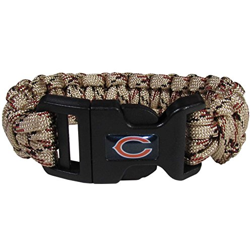 NFL Siskiyou Sports Fan Shop Chicago Bears Camo Survivor Bracelet One Size Tan