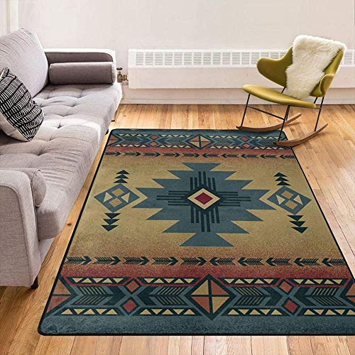 Native Southwest American Indian Aztec Navajo Modern Area Rugs Home Decorative Rugs Yoga Mat Floor Carpets Mat Home Decor for Bedroom Living Playing Room