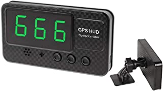 UFFD Car Speedometer HUD Head Up Digital Display, with GPS Over Speed Alarm - for Vehicles/Bike/Motorcycle, USB Charging Available