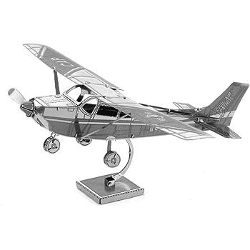 Metal Earth Fascinations Cessna 172 Airplane 3D Metal Model Kit