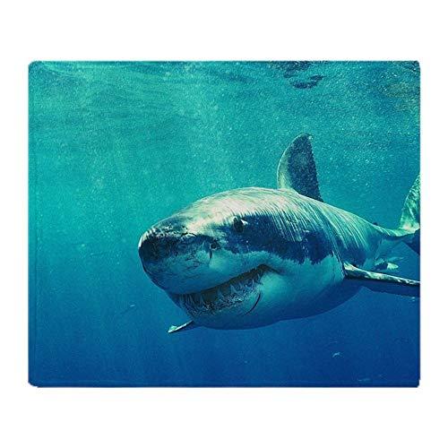 YISUMEI Decke 150x200 cm Kuscheldecken Sanft Flanell Weich Fleecedecke Bettüberwurf Großer weißer Hai