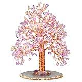 Nupuyai Árbol de piedras preciosas Feng Shui, árbol de dinero árbol de la vida, árbol de la suerte de cristal