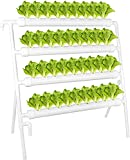 Kit De Cultivo Hidropónico 36 Sitios 4 Tubos De Pbc PVC Hydroponic Home Balcony Jardín Crezca Kit con Bomba De Agua para Verduras, Bayas, Flores, Hierba