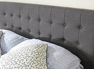 Istyle Amelia Queen Bed Head Fabric Grey