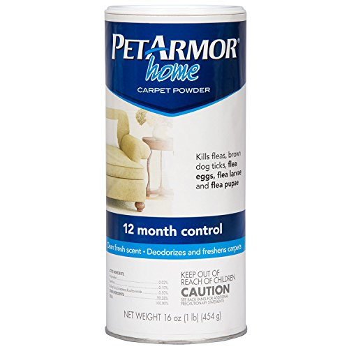 PETARMOR Home Carpet Powder for Fleas and Ticks, 16 Ounce