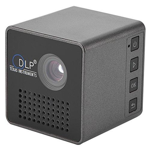 fosa Proiettore portatile Mini DLP Proiettore portatile Micro 20000H LED con messa a fuoco manuale, supporto per batteria Videoproiettore TF Card Ideale per i giochi e il campeggio in casa