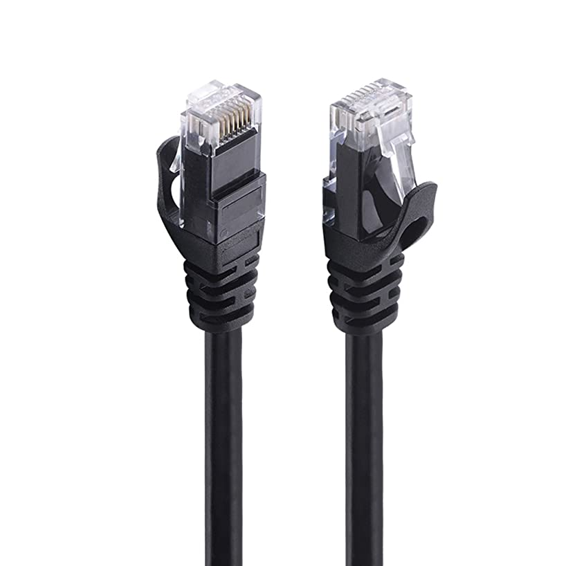 Cat 6 Ethernet Cable 10 ft Black - Ealona 250MHz UTP Network Stranded Cable for Switch IP Camera Laptop PS4 Xbox 360 CCTV (10 FEET / 3 Meter, Black)