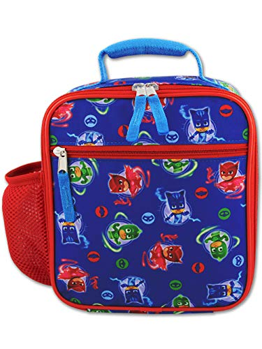 PJ Masks Boy's Girl's Soft Insulated School Lunch Box (One Size, Blue/Red)