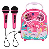 N\A Karaoke Machine for Kids Portable Karaoke Speaker for Children Rechargeable Singing Speaker for Toddler Connected with Bluetooth USB TF Card Birthday Gift for Boys Girls