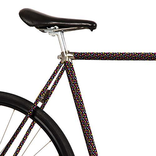 MOOXIBIKE Fahrradfolie mit Muster für Rennrad, Pellicola per Bicicletta con Motivo per Bici da Corsa. Unisex-Adulti, Nero, 1 x 150 x 13 cm