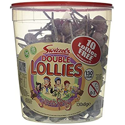 swizzels double lollies original (tub of 120) Swizzels Double Lollies Original (tub of 120) 51DltRsQROL