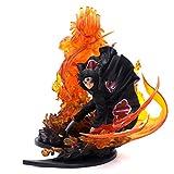 MNZBZ Naruto Uchiha Itachi Rosso Fuoco VS Sasuke Susanoo Blu PVC Action Figure Brother Relation Collection Modello Giocattolo 21 cm-Un