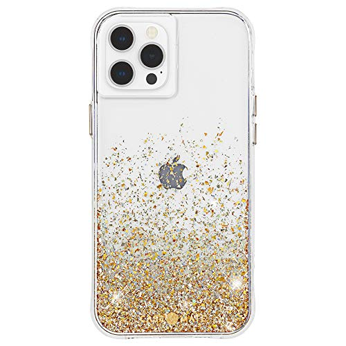 Case-Mate - Twinkle Ombre - Case for iPhone 12 and iPhone 12 Pro (5G) - 10 ft Drop Protection - 6.1 Inch - Gold