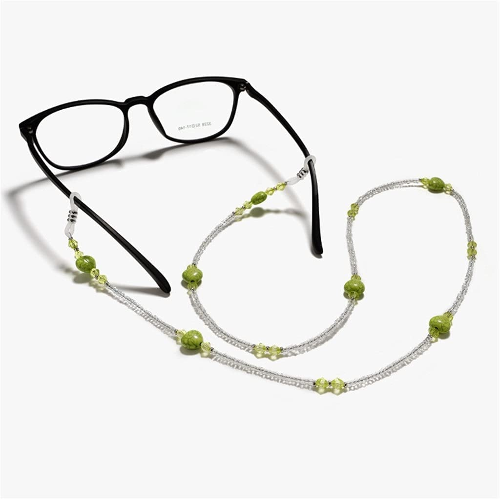 ZYKBB Bohemia 4 color Lock Block Bead Cords Reading Glasses Chain Fashion Women Sunglasses Accessories Lanyard Hold Straps (Color : B, Size : Length-70CM)