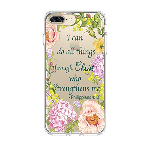Shark Christian Quotes,Bible Philippians,Bible Verses Theme Spirit Lead Me I can do All Things Through Christ for Apple (iPhone 7/Phone 8(02))