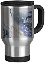 Ink Watercolor Shading Abstract Stainless Steel Travel Mug Beer Mugs With Handles 13oz Gift
