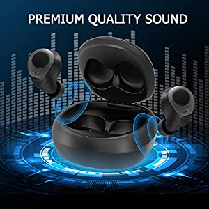 Letsfit Wireless Earbuds, Bluetooth 5.0 Headphones with Built-in Mic, True Wireless in-Ear Earbuds HD Stereo Sound, Bluetooth Earbuds for Running