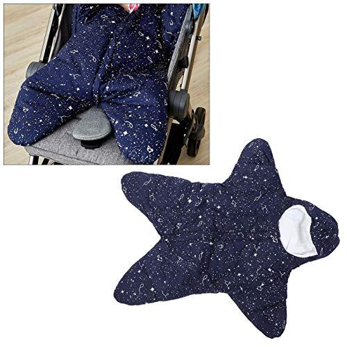 Saco de dormir para bebé de buena transpirabilidad, para protección contra el viento para uso infantil(Starry blue, Flannel)