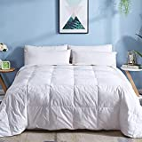 DOWNCOOL Cotton Goose Duck Feather Down Comforter - Lightweight...