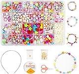 QIMMU Enfants Bricolage Perles Set, Perle Collier Enfant,Coffret de Perles Enfants Fille, DIY Perles pour...