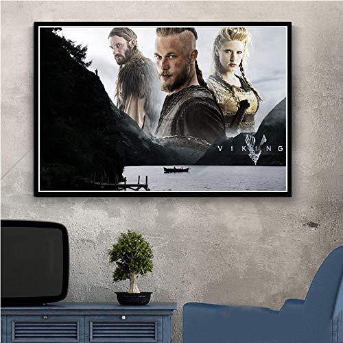 Carteles E Impresiones Vikingos TV Clásica Lienzo Pintura Pared Arte Póster Imágenes Sala De Estar Dormitorio Decoración del Hogar 50X70Cm Ll-1738
