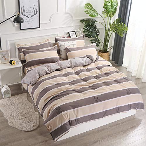 huyiming bed linings Utilizzato per copriletto in Cotone Aloe Vera Quattro Pezzi 1,5/1,8/2,0 m Letto Matrimoniale Kit 1,2 m Letto