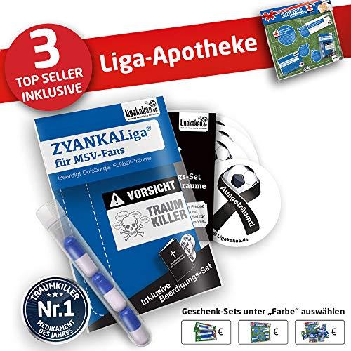 Duisburg Kapuzen-Pullover ist jetzt die Liga-APOTHEKE für MSV Fans by Ligakakao.de Herren Hoody fußball Fan Fleece Sweatshirt blau-weiß