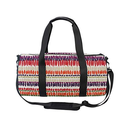 MNSRUU Boho Tribal Stripes Große Reisetasche für unterwegs, Unisex, hohe Kapazität, großes Gepäck, Sporttasche