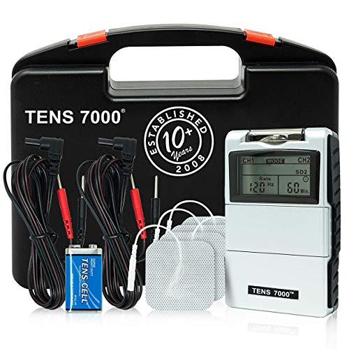 TENS 7000 Digital TENS Unit With Accessories - TENS Unit Muscle Stimulator For Back Pain, General Pain Relief, Neck Pain, Muscle Pain
