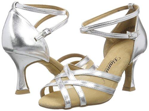Diamant Latein 035-087-013 Damen Tanzschuhe – Standard & Latein, Silber (Silber), 40 EU (6.5 UK) - 5