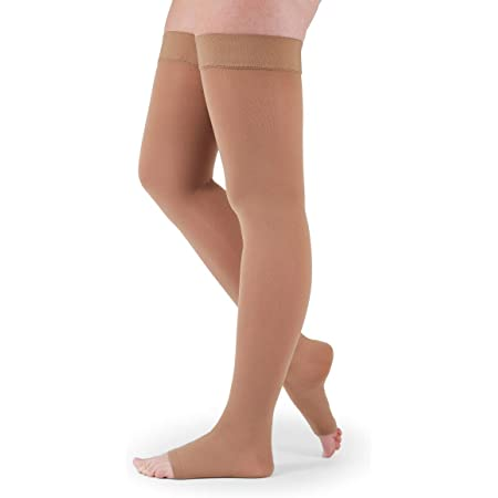 Thigh High w//Silicone Topband 20-30 mmHg Open Toe mediven Plus