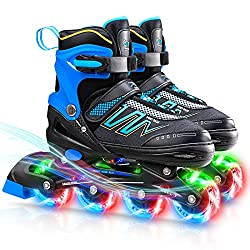 commercial Hiboy adjustable inline skate with all illuminated wheels, illuminated rollers for outdoor and indoor … in line skates